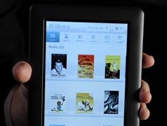 The Barnes and Noble Nook color e-reader. -