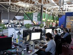 Inside Zynga offices in San Francisco. The social-gaming behemoth is planning to move to larger headquarters.