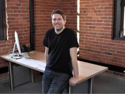 StumbleUpon CEO  Garrett Camp at the company's San Francisco headquarters.