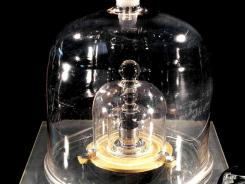 An undated picture from the International Bureau of Weights and Measures shows the international prototype of a kilogram.