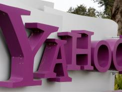 The Yahoo logo at the Yahoo campus in Sunnyvale, Calif.