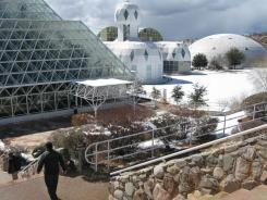 This Feb. 27, 2011 picture shows the Biosphere 2 complex in Oracle, Ariz. With new projects and experiments, researchers say Biosphere 2 may be even more relevant today than when those first people passed through the airlocks on Sept. 26, 1991. The focus now is figuring out how we'll survive on our own warming planet.