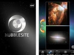 Screenshot of the new HubbleSite app.