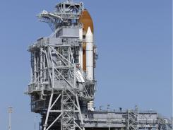 Space shuttle Endeavour on Launch Pad 39-A .