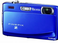 The 16-megapixel FinePix Z900EXR digital camera from Fujifilm can take and display wide-angle images.