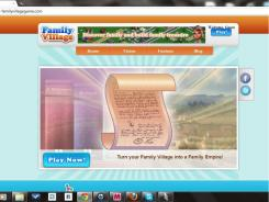 Screenshot from the Family Village game web site.