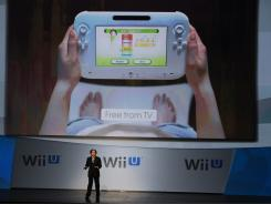 Satoru Iwata, Nintendo global president, at a demonstration of the Wii U.