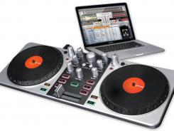 Give your playlist the DJ treatment with FirstMix, a DJ controller that connects to your computer via a USB port.