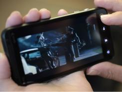 The HTC Evo 3D smartphone.