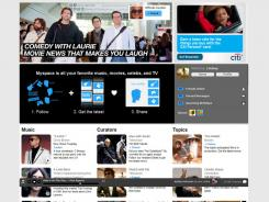 The home page for MySpace.com.