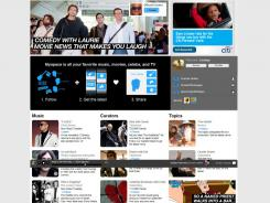 The home page for MySpace.