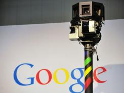 A camera from Google's street-view car,