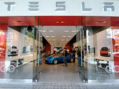 A Tesla Motors showroom in San Jose, Calif.