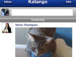Katango — on iPhone, iPad, iPod and the Web — organizes its members into groups based on their interests, topics and backgrounds.