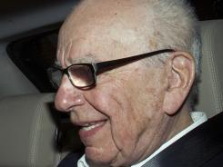 News Corp. chairman Rupert Murdoch arrives at his residence in central London on July 14, 2011.