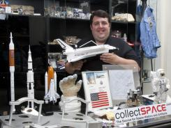 Robert Pearlman has turned his apartment in Houston into a space museum. He has everything from a 200-pound International Space Station hatch to bread crumbs from Apollo 11.