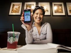 Bebe Oh has been paying for her Starbucks purchases with her mobile phone since February.