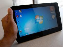 The ViewPad 10 tablet computer comes loaded with Android and Windows operating systems.