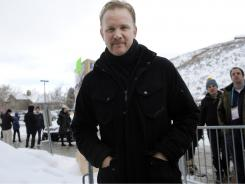 Morgan Spurlock will provide original content for Hulu. Here, Spurlock poses at the 2011 Sundance Film Festival in Park City, Utah.