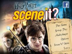 Families can huddle around the iPad with each player having a corner to buzz in his or her response to questions with the 'Scene It? Harry Potter' trivia app.