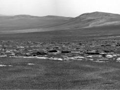 A photo of the Endeavour Crater's rim from NASA's Mars Exploration Rover Opportunity.
