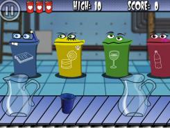Eco Mania, a recycling sortable game for iPhone and iPod Touch, has players match items on a conveyer belt with the proper recycling bin. In between rounds, recycling tips are offered up.