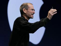 Apple CEO Steve Jobs delivers the keynote address at the 2010 Apple World Wide Developers conference in June 2010 in San Francisco.