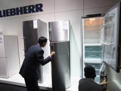 The latest generation of Liebherr refrigerators at the IFA trade fair.