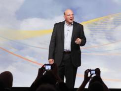 Microsoft CEO Steve Ballmer launches Microsoft Office 365, the new cloud based service, in June in New York City.