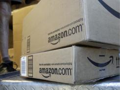 Packages from Amazon in Palo Alto, Calif. The company might announce its rumored tablet computer at a press conference on Wednesday.