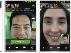 You can use Google+ Hangouts on certain smartphones.
