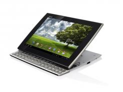 The Eee Pad Slider is a tablet with a full QWERTY keyboard.