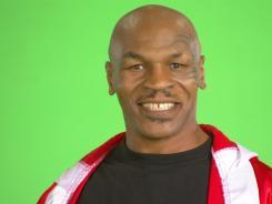 Mike Tyson on the set at Stargreetz.