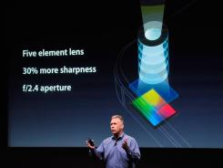 Apple's Phil Schiller talks about the new iPhone 4S camera.