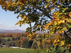 Fall colors are seen Monday, Oct. 10, 2011 in Calais, Vt.