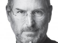 "The book cover image released by Simon & Schuster shows ""Steve Jobs,"" by Walter Isaacson."