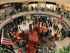 Shoppers in the Tyson's Corner Center Mall in Virginia during last year's 'Black Friday.'