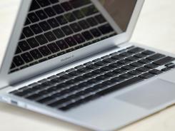 An 11-inch MacBook Air.