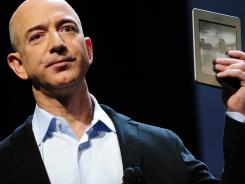 Amazon CEO Jeff Bezos introduces the new Kindle Touch in New York in  September.