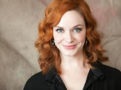 """My husband always says, 'take the iPad' (to work,) but I never get on it. I like talking to people and socializing,"" says actress Christina Hendricks."