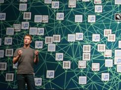 Facebook CEO Mark Zuckerberg delivers a keynote during  Facebook's developer conference in San Francisco in September.