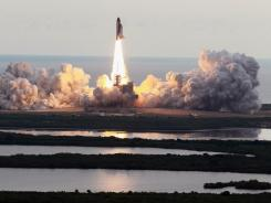 NASA space shuttle Endeavour lifts off at the Kennedy Space Center on May 16, 2011.
