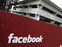 Facebook headquarters in Palo Alto, Calif.