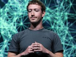 Facebook has recently been deluged with gory and sexual images. Here, CEO Mark Zuckerberg at the f8 conference.