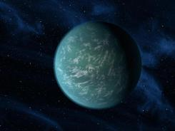 An artist's conception of Kepler-22b.