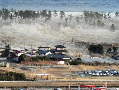 Monster waves hit homes in Japan's Miyagi Prefecture. The quake damage underwater is only now being measured.