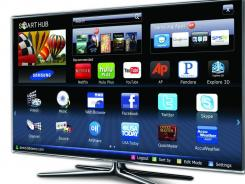 Samsung Smart TVs, like this 55-inch LED 7000, have built-in WiFi that allow you to connect to apps.