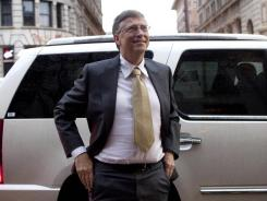 Bill Gates arrives to testify at the Frank E. Moss federal courthouse in Salt Lake City.