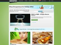 A screen grab from Groupon's web site.