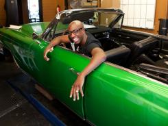 JB Smoove at his favorite Los Angeles auto shop.